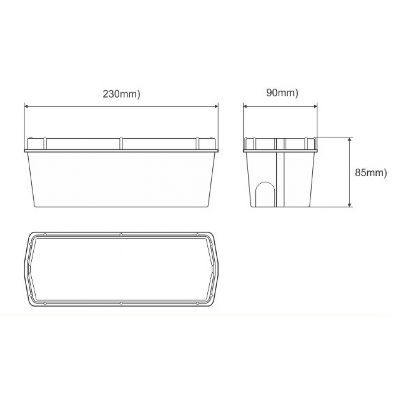 Wall-mounted Recessed Box for 7002/7003 wall Lights ESL7102